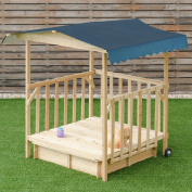 Outdoor Children Retractable Beach Cabana Sandbox with Canopy