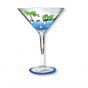 Glass Martini Glass It's Ok I'm On Vacation Fun