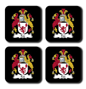 Fox Coat of Arms / Family Crest Coaster Set, by Carpe Diem Designs – Made in the U.S.A.