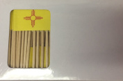One Box New Mexico Toothpick Flags, 100 Small New Mexico Cupcake Flag Toothpicks or Cocktail Picks