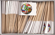 One Box Soccer Ball Toothpick Flags, 100 Small Soccer Ball Cupcake Flag Toothpicks or Cocktail Picks