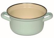"'""Classic Riess Kelomat – Pastel Enamel Saucepan with Chrome Trim 14 cm turquoise"
