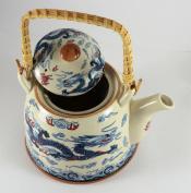 900055 Traditional Chinese Teapot Set with 2 Matching Cups, Tea Pot, Tea Set