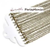 Pax 12 Mesh forcat necklaces necklaces 76.2 cm Ball Chain 4 mm Bronze s1126388