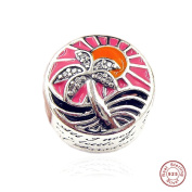 MOCCI 2017 Summer Collection Paradise Sunset DIY Fits for Original Pandora Bracelet Authentic 925 Sterling Silver Charm Beads Making Jewellery