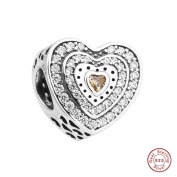 MOCCI 2017 Spring Collection Authentic 925 Sterling Silver Lavish Heart DIY Fits for Pandora Original Bracelets Jewellery