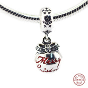 2016 Christmas Gift European Bauble Dangle Charm Beads 925 Sterling Silver DIY Fits for Original Pandora Bracelet DIY Making Jewellery