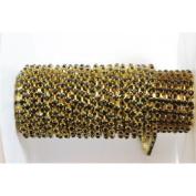 30 cm Black and dorée- Diamante Chain – 2.7 mm