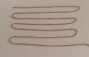 """2 Metres of very fine Silver-Plated Metal Chain â . """" Creation Beads 1.5 x 2 mm"""
