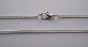 "5 x 45cm (18"") Necklace Silver Plated 3x2mm Curb Link Chain with 12mm Lobster Clasp"
