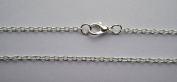 "5 x 77cm (31"") Necklace Silver Plated 3mm Cable Link Chain with 12mm Lobster Clasp"