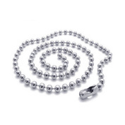 1 Piece Bead Ball Chain Necklace Bulk Jewellery Making Chain 2.4mm, 26 Inches, Silver