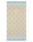 Pip Studio Hand Towels Jacquard Cheque I Indian Painting I Pure Cotton, khaki, 70 x 140