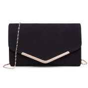 Miss Lulu Women Clutches Soft Suede Velvet Pu Evening Party Wedding Chain Bag Envelope Purse Cluth Bags