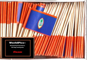 One Box Guam Toothpick Flags, 100 Small Guamanian Cupcake Flag Toothpicks or Cocktail Picks