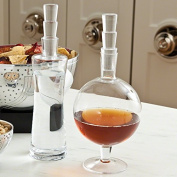 Mid Century Modern Laurel and Hardy Decanter Set | Wine Liquor Tall Fat Glass