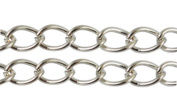 1.2m METAL Chain 6 x 8 mm Silver-Coloured Beads