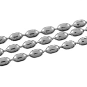 2 M Stainless Steel Ball Chain-Silver, 5 x 3.3 MM
