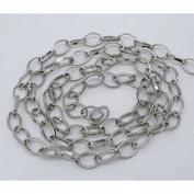 400cm Antique Silver Colour Chain Jewellery Findings - 6mm - L00821