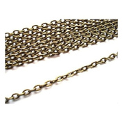 2 Metres Antique Bronze Colour Colour Oval Cable Chain 2x3mm by Bead Boutique