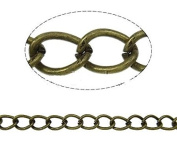 2 Metres Antique Bronze Tone Twist Oval Chain ~ 5x4mm