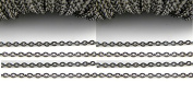 2 Metres Gunmetal Black Tone Chain Necklace ~3x2mm