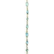 Bead House 0.3m Length Baijal Onyx Chain, Silver Plated, Blue