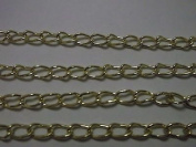 5 Metres of Gold Plated 5.5mm x 3.5mm Curb Link Chain for Jewellery Making, General Crafts, Decoration