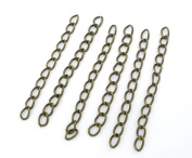 200 x Bronze Tone Extension / Extender 50mm Chains for Jewellery Crafts, Art, Card Making