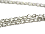 Extra Fine Metal Chain - Silver Coloured - 5 x 3 mm - 2 m