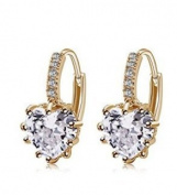J*myi Korean fashion earrings heart-shaped zircon earrings fashion simple earrings