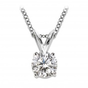 Diamond solitaire pendant necklace 1/4 carat premium quality diamonds