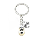 Motivational Bodybuilding, Fitness, and Strength Weight Plate Kettlebell Charm Necklace or Keychain