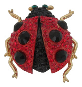 Brooch Boutique Chunky 3D Crystal Ladybird Brooch Ladybug Insect Broach Gift Boxed