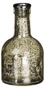 15cm Metallic Mercury Glass Bottle Candlestick Holder