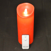 PMS International 23Cm Reality Dancing Wax Wavy Candle W/Remote Control Red