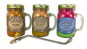Smell My Nuts, Nice Melons, & Hot Buns Sassy Pack Scented 380ml Mason Jar Candles with Wick Trimmer