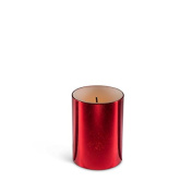 The Gerson Company 43694 7.6cm x 10cm Glow Wick(R) Wax LED Candle with Galaxy Effect with Glow Flicker with Warm White LED 5-Hour Timer Feature, Red