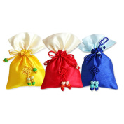 Korean Traditional Silk Lucky Bag Fortune Pocket Cosmetics Gift Bags Small RANDOM 3 colours