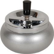 14cm Large Metal Spinning Ashtray - Metallic Glitter Rounded Bottom