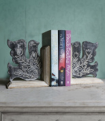 Valentines Day Book Ends Handcrafted Wooden CD Dvd Stand Rack Shelf Decorative Display Pair Bookend for Bookshelf Holder Home Office School Library Desk Tabletop Organiser