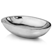 Modern Day Accents Pesado Oval Heavy Decorative Bowl