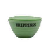 Vintage Green Jadeite Glass Drippings Bowl Jadite Grease Jar
