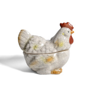 Creative Co-Op Distressed Stoneware Rooster Jar
