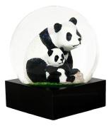 Ebros Mountain Giant Panda With Cub Glitter Water Globe Collectible Figurine 11cm Tall