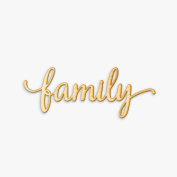 Family Script Wood Sign Home Décor Rustic Wall Art Unfinished 60cm x 23cm