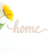 Home Wood Sign Home Décor Wall Art Unfinished 46cm x 15cm