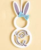 "The Lakeside Collection Monogram Bunny Wall Hanging ""C"""