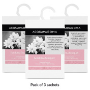 Acqua Aroma Gardenia Bouquet Scented Sachet 7.0 cu. in. (115mL/24g) - Pack of 3 Sachets