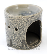 Expressive Scent Ceramic Burner for Oil and Wax Melts - Fragrance Oil Warmer Lamp GREY 26-6
